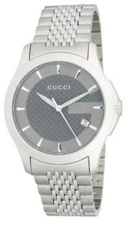 Gucci Analog Textured Dial Stainless Steel Bracelet Watch