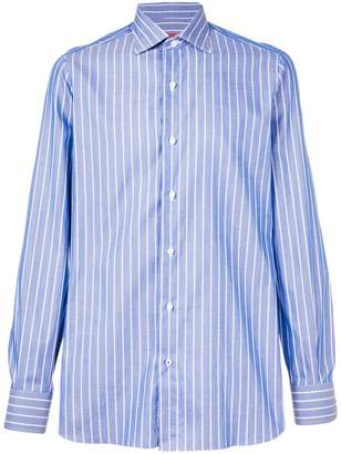 Isaia striped tailored shirt