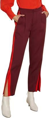 Habitual Abigail Side Stripe Ankle Slit Pants