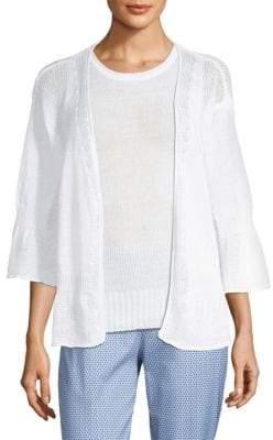 Piazza Sempione Linen Cotton Knit Cardigan