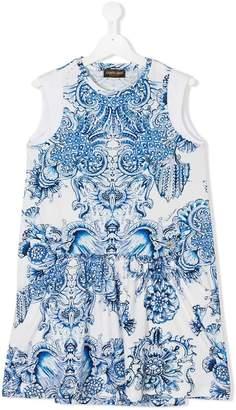 Roberto Cavalli TEEN printed shift dress