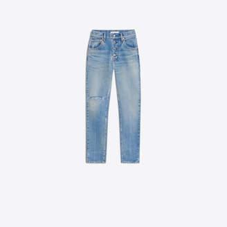 Balenciaga Twill denim straight jeans with knee hole