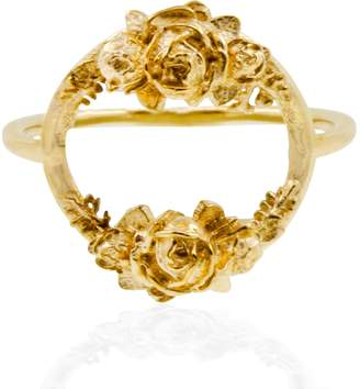 Lee Renee Rose Halo Ring- Gold