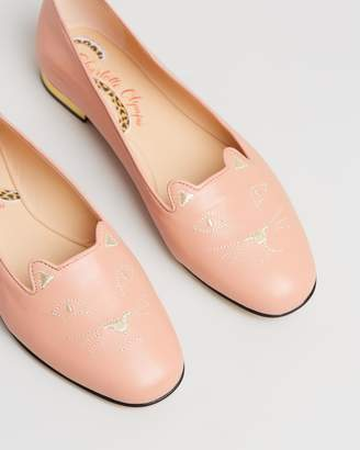 Charlotte Olympia Nocturnal Kitty Flats