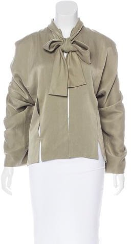 Tom Ford Satin Long Sleeve Blouse