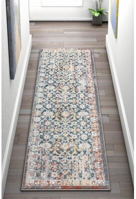 Blue Area Well Woven Well Woven Sydney Lyric Vintage Distressed Rug Well Woven