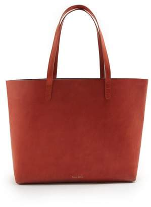 Mansur Gavriel Red Lined Large Leather Tote Bag - Womens - Tan Multi