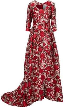 Carolina Herrera Brocade Gown
