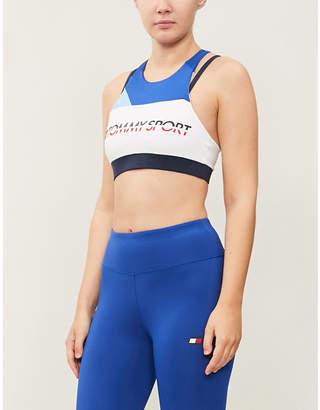 Tommy Hilfiger Double-strap stretch-jersey sports bra
