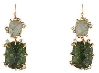 Alexis Bittar Labradorite Double Drop Elements Earrings
