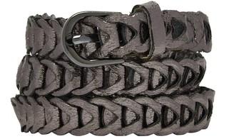 Nooki Design Metallic Loop Belts Gunmetal