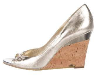 Gucci Peep-Toe Wedge Sandals