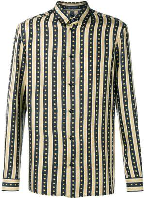 Versace striped straight fit shirt