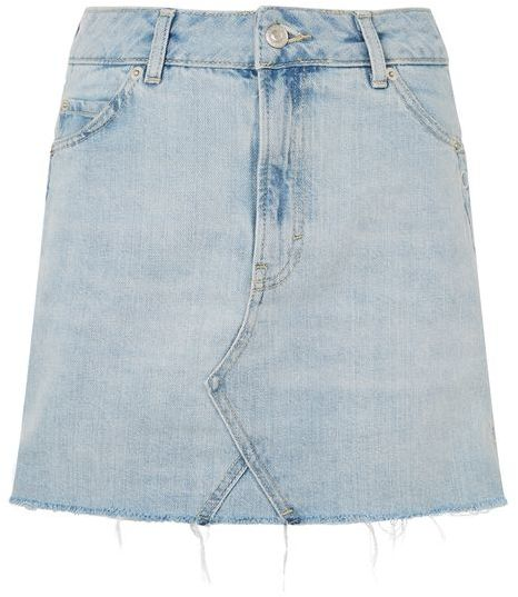 Topshop Topshop Moto popper mini skirt