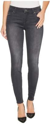 KUT from the Kloth Mia Toothpick Skinny in Model w/ Dark Stone Base Wash Women's Jeans