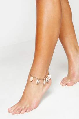 boohoo Shell Anklet