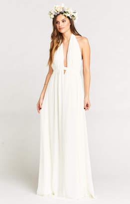 Show Me Your Mumu Luna Halter Dress ~ Ivory Chiffon