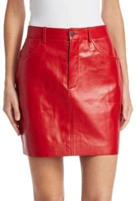 Vetements Leather Mini Skirt
