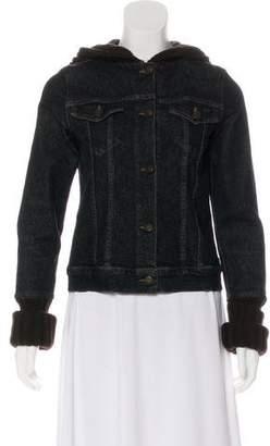 Theory Hooded Denim Jacket