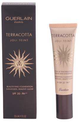 Guerlain Terracotta Joli Teint Beautifying Foundation SPF 20, Ebony, 1 Ounce