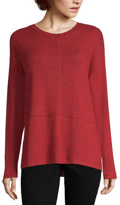 Liz Claiborne Long Sleeve Seamed Tee