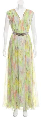 Matthew Williamson Belted Printed Dress