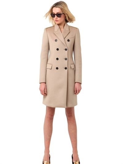 Burberry Double Breasted Cashmere Cloth Coat
