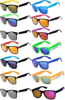 OWL Wholesale Colored Mirrored and Smoke Lens Sunglasses 14 pairs .