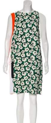 Stella McCartney Printed Colorblock Dress