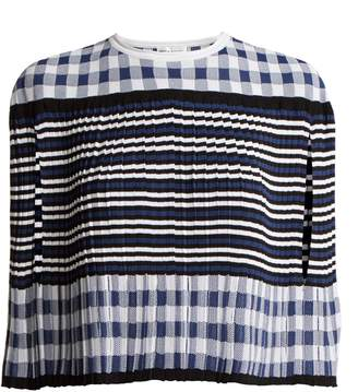 Sonia Rykiel Pleated knitted gingham cape
