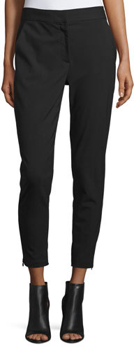 DKNY DKNY Cropped Tailored Relaxed Pants, Black