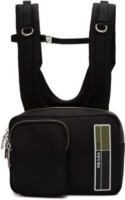 Prada Black Technical Backpack