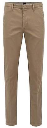 HUGO BOSS Slim-fit chinos in stretch cotton gabardine
