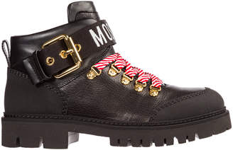 Moschino Leather Combat Boots
