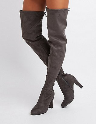 Tie-Back Over-The-Knee Boots $45.99 thestylecure.com