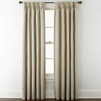 Liz Claiborne Fleur Jacquard Pinch-Pleat/Back-Tab Room-Darkening Curtain Panel