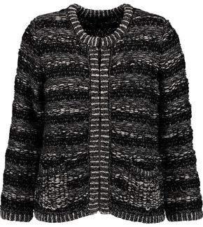 Maje Metallic Bouclé-Knit Cardigan