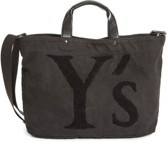 Yohji Yamamoto Y's by Ys by Embroidered Canvas Tote Bag
