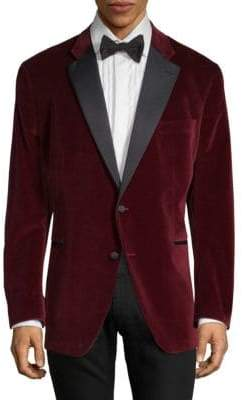 Saks Fifth Avenue Notch-Lapel Velvet Sportcoat