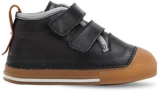 Ocra Nappa Leather Sneakers W/ Wool Lining