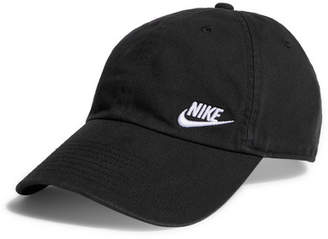Nike Heritage 86 Embroidered Cotton-canvas Baseball Cap - Black