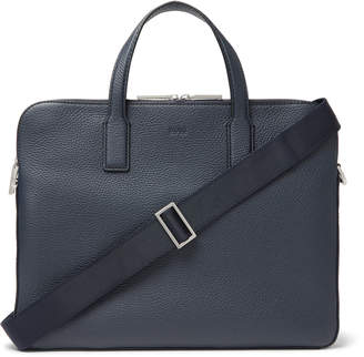 HUGO BOSS Crosstown Full-Grain Leather Briefcase - Men - Blue