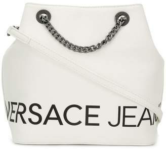 Versace logo bucket bag