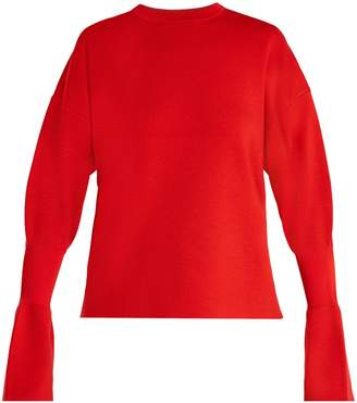 Tibi Fluted-cuff wool sweater