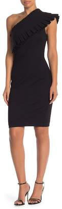 Ted Baker Pleated One-Shoulder Mini Dress
