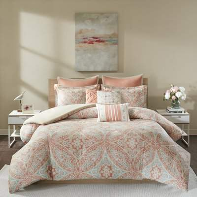 Wayfair Finkbeiner 8 Piece Reversible Duvet Cover Set