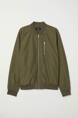 H&M Nylon-blend Bomber Jacket - Green