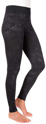 Muk Luks Embossed Womens High Waisted Legging