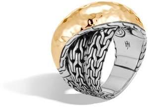 John Hardy Classic Chain Hammered Overlap Ring
