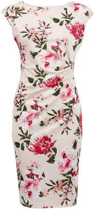 Dorothy Perkins Womens **Billie & Blossom Blush Floral Print Ruched Bodycon Dress